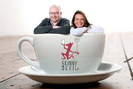 Skinny Devil founders: David Murray & Antonia Gott